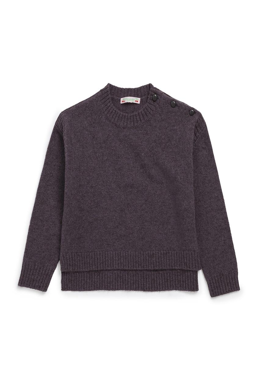 Bonpoint Шерстяной серый пуловер balenciaga шерстяной пуловер