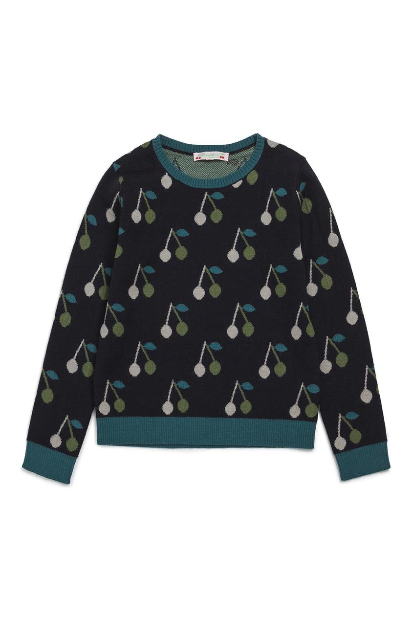 Bonpoint Пуловер синий шерстяной balenciaga шерстяной пуловер