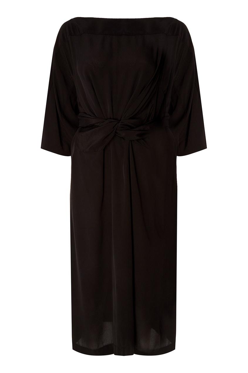где купить Isabel Marant Etoile Черное платье с поясом Lisa по лучшей цене