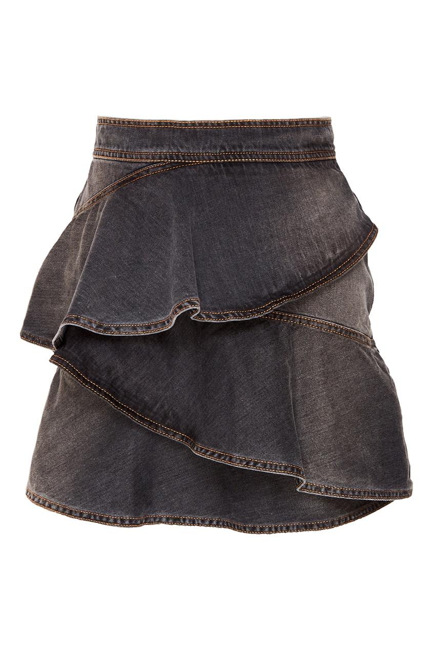 где купить Isabel Marant Etoile Джинсовая юбка с оборками Coati по лучшей цене