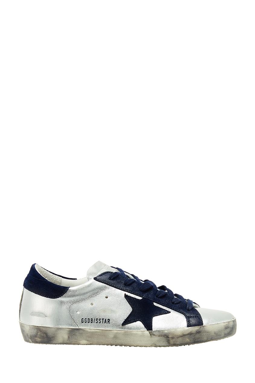 Белые кроссовки с контрастной отделкой Golden Goose Deluxe Brand