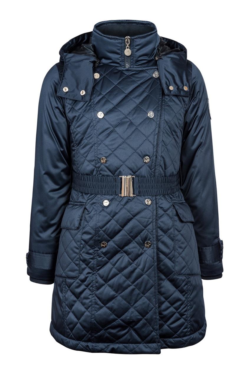Junior Republic Синее стеганое пальто junior republic junior republic платье школьное синее
