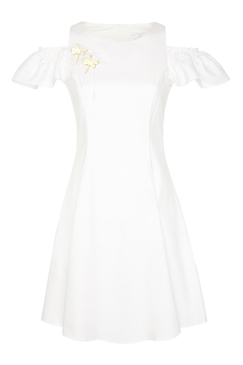 MILA MARSEL Белое платье с открытыми плечами