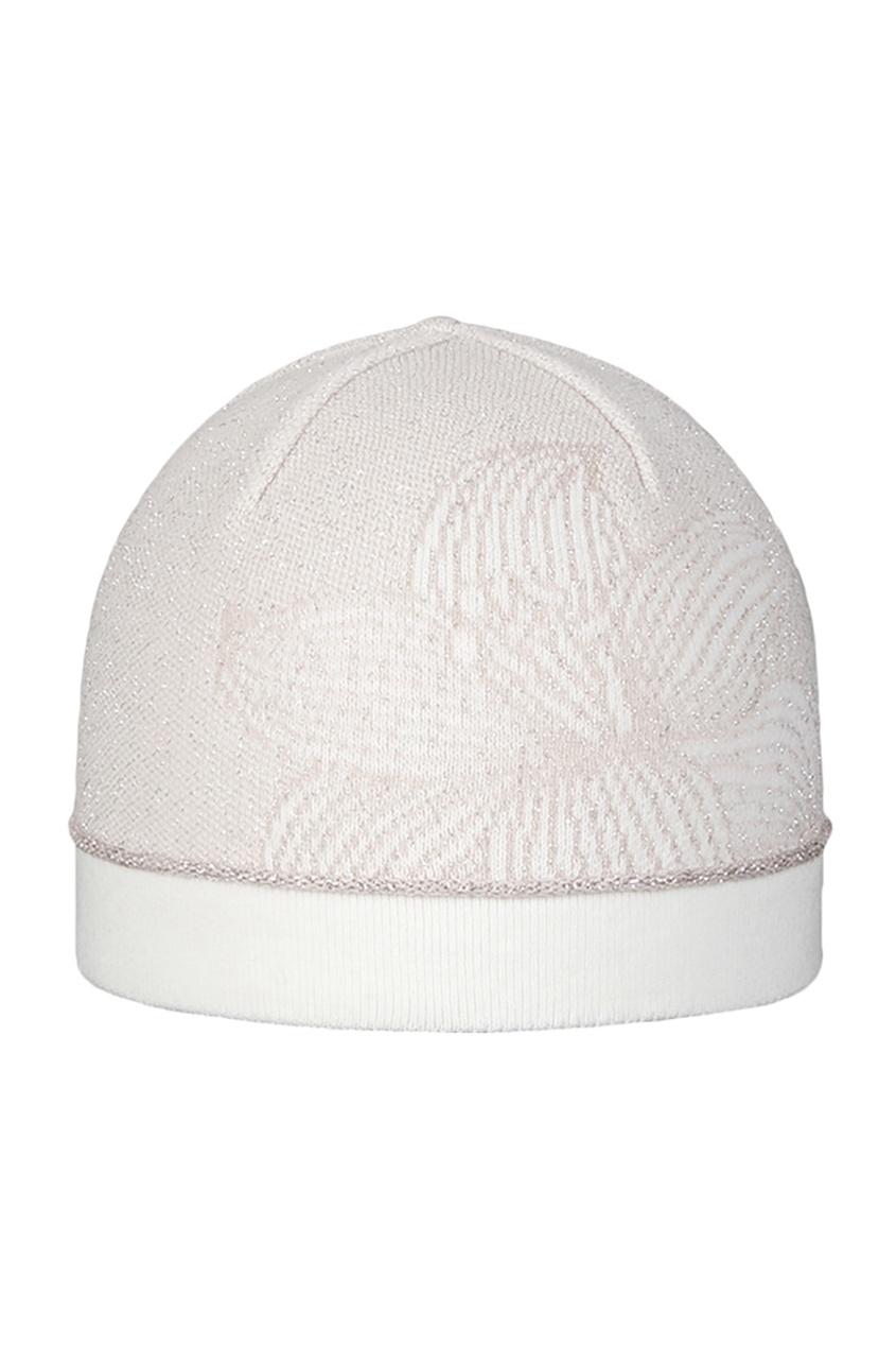Пудровая шапка с цветком от Jacote