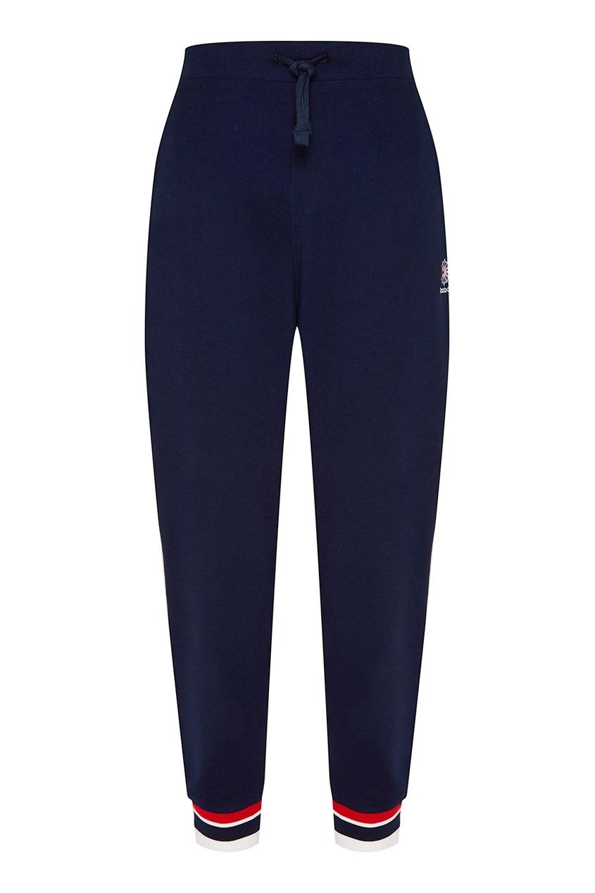 Купить со скидкой Синие брюки с цветной отделкой
