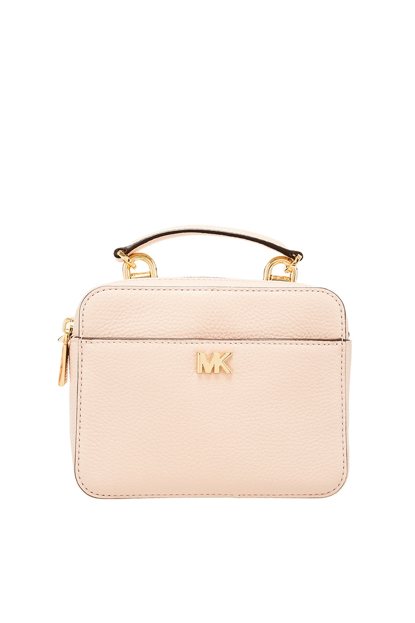 Розовая кожаная сумка Crossbodies Michael Kors