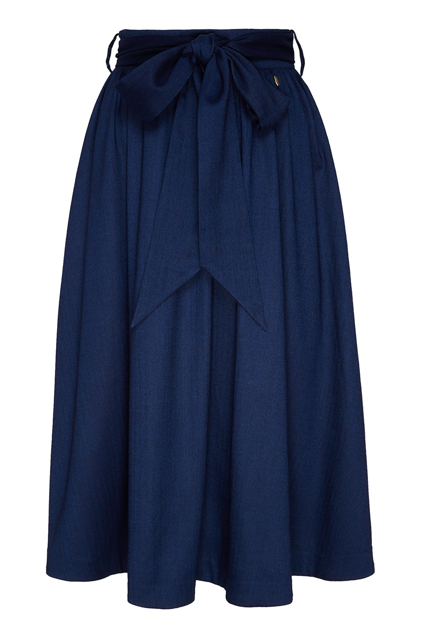 Синяя юбка с бантом Akhmadullina DREAMS