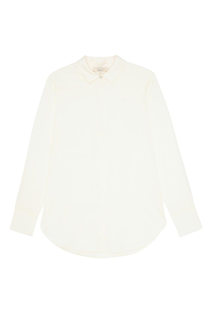Белая блузка с воротником