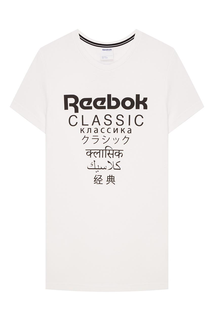 Белая футболка с контрастным принтом