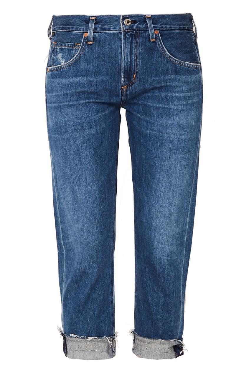 Синие джинсы с подворотами от Citizens of Humanity