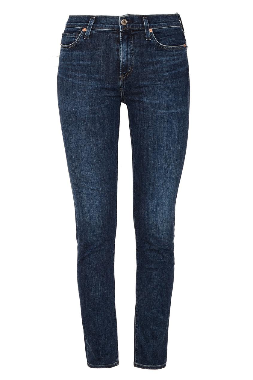 Citizens of Humanity Синие зауженные джинсы