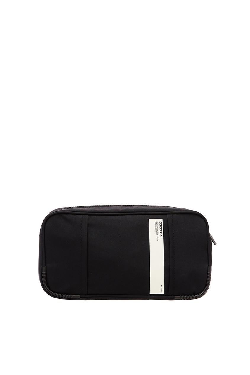 Черная сумка с отделкой adidas