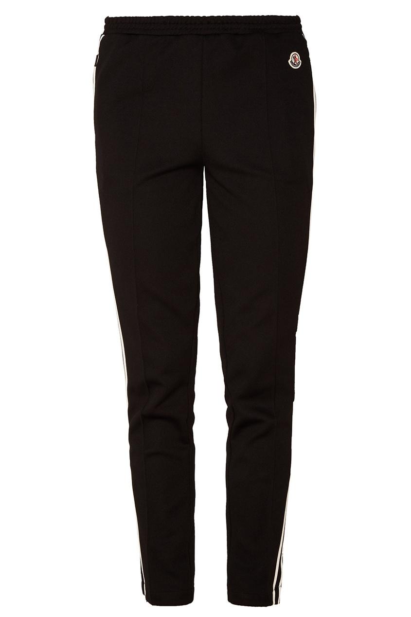 Купить со скидкой Черные брюки с лампасами