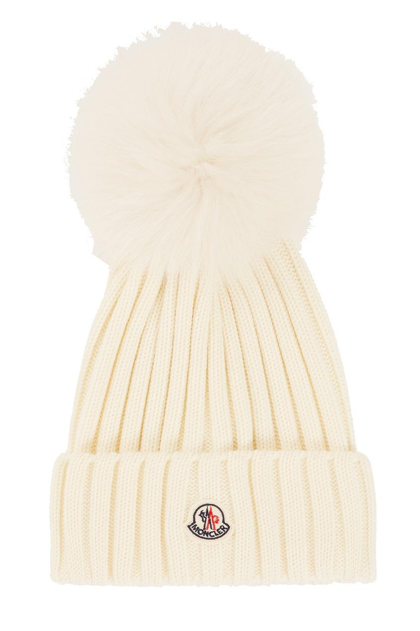 Купить со скидкой Шерстяная шапка с помпоном