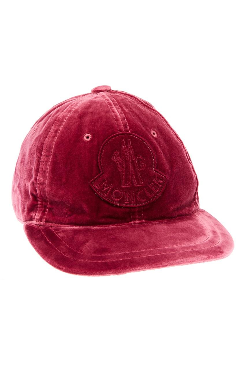 женская кепка moncler, розовая