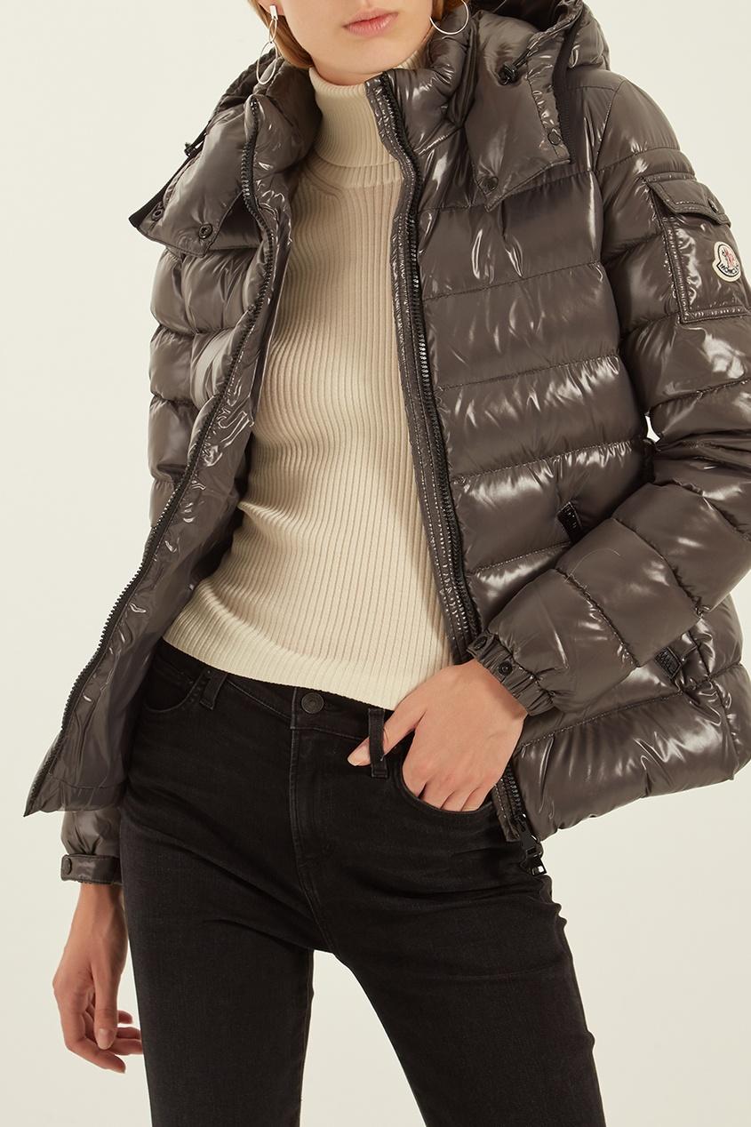 женская куртка moncler, серая