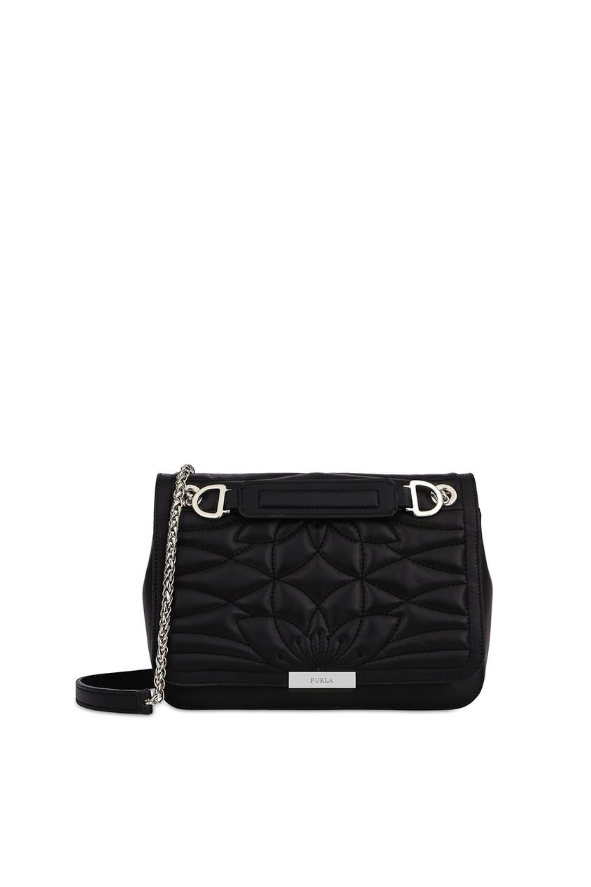 Стеганая черная сумка Deliziosa Furla