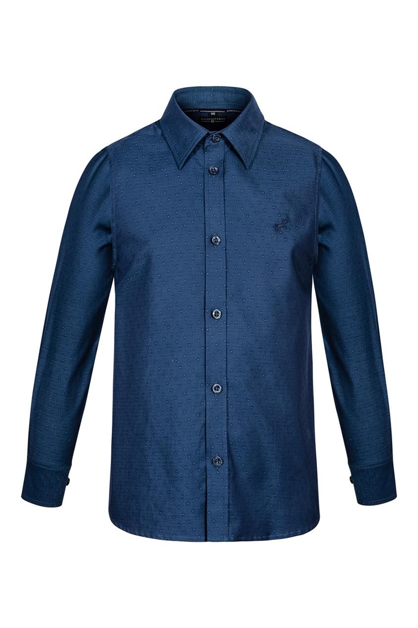 Junior Republic Синяя рубашка со звездами junior republic junior republic рубашка белая