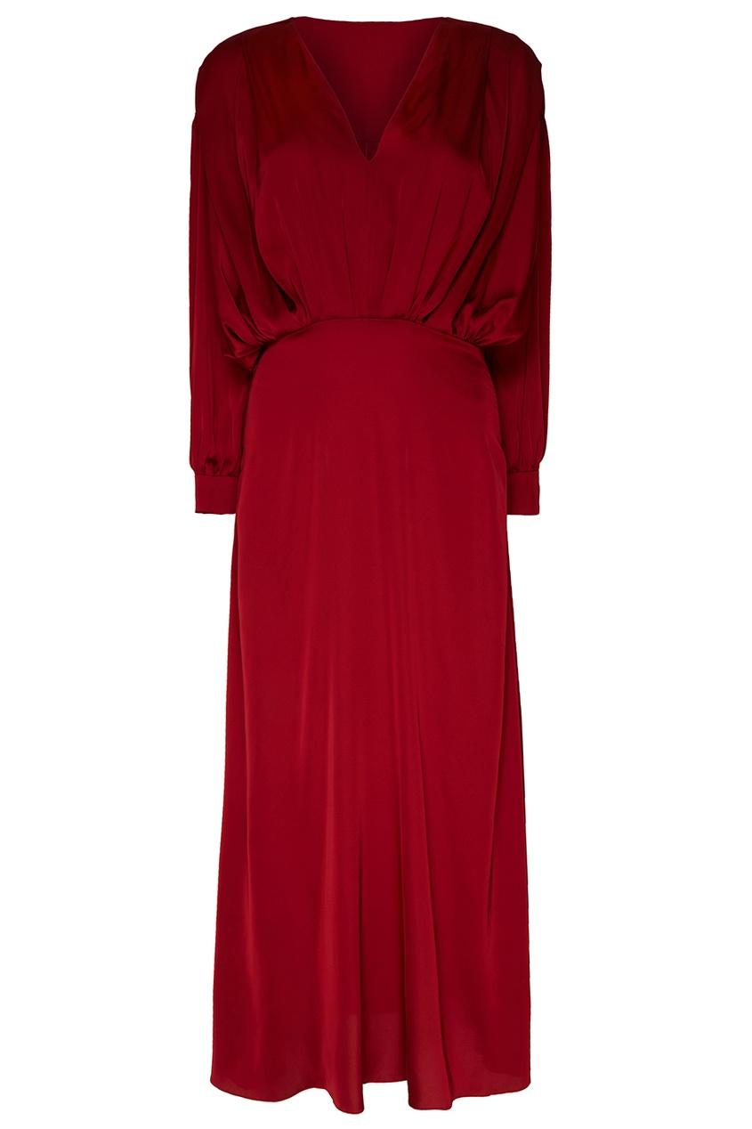 Длинное бордовое платье ЛИ-ЛУ