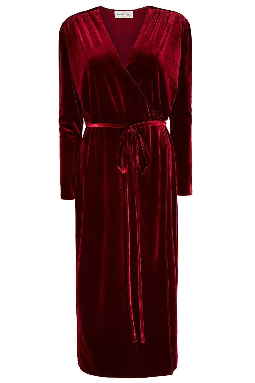 женское платье ли-лу, красное