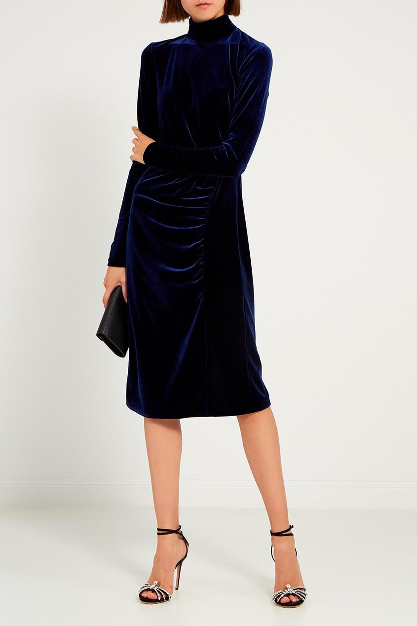 женское платье ли-лу, синее