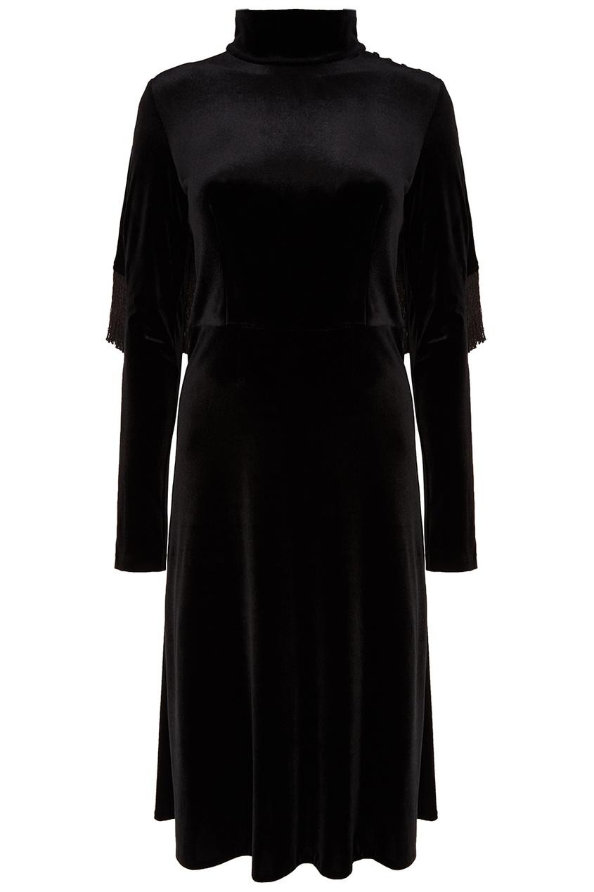 Черное платье-миди ЛИ-ЛУ