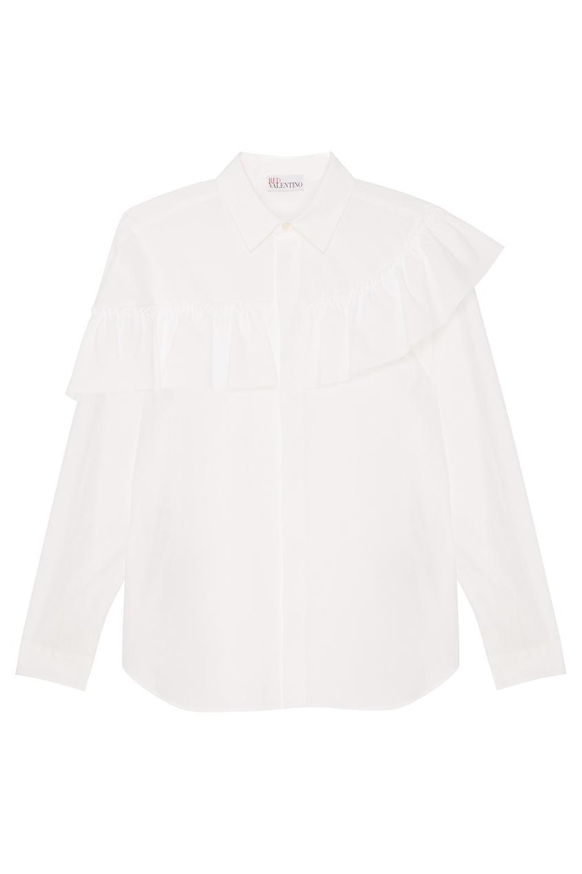 женская блузка red valentino, белая