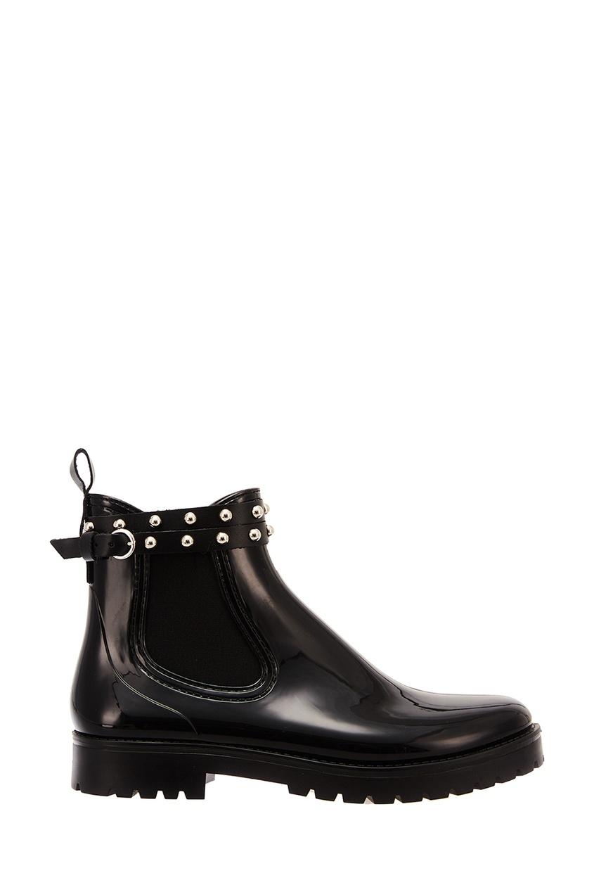 Резиновые ботинки с заклепками