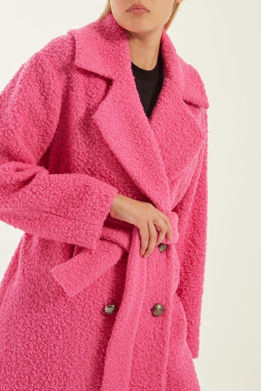 женское пальто msgm, розовое
