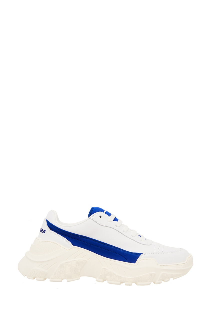 Joshua Sanders Белые кроссовки с синей отделкой joshua sanders сандалии из денима