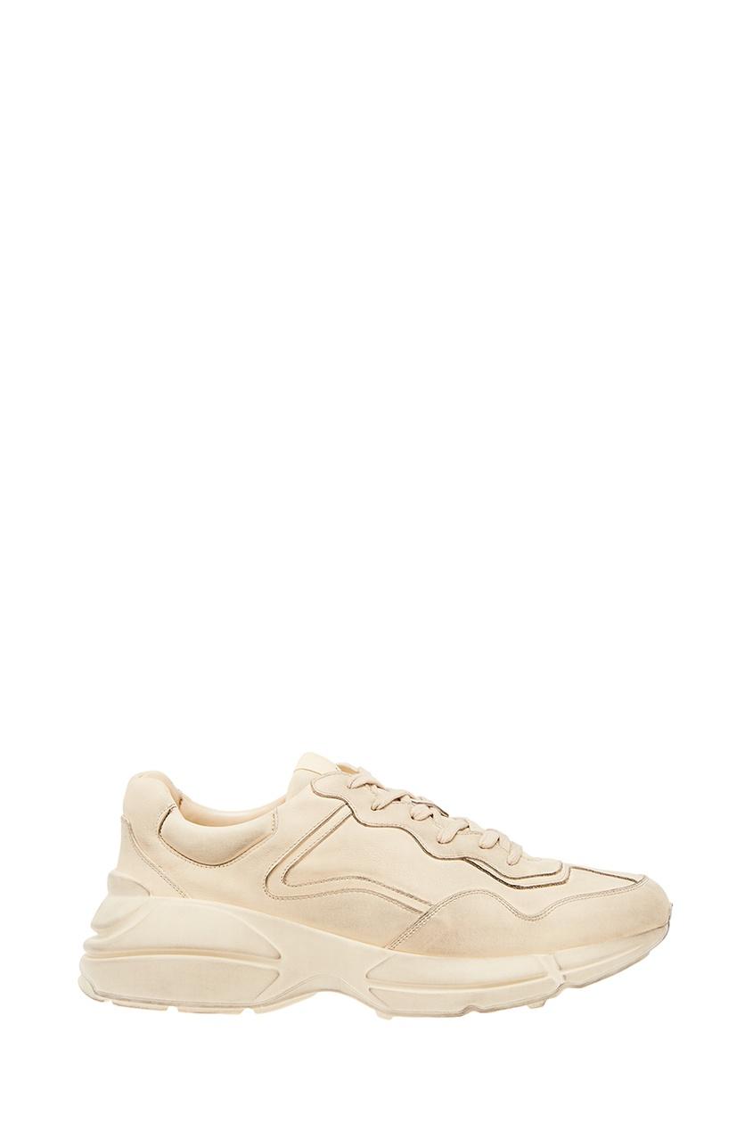 мужские кроссовки gucci, белые