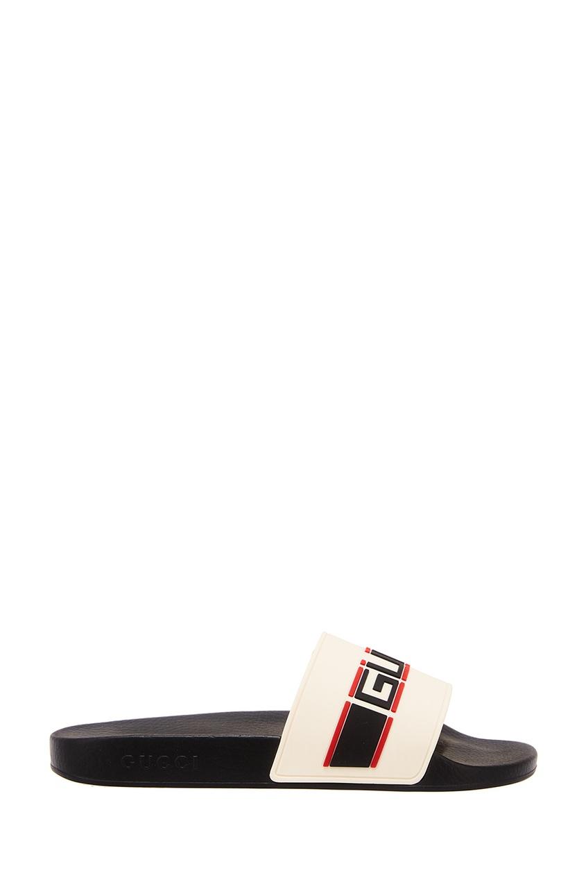 Gucci Шлепанцы с ярким логотипом