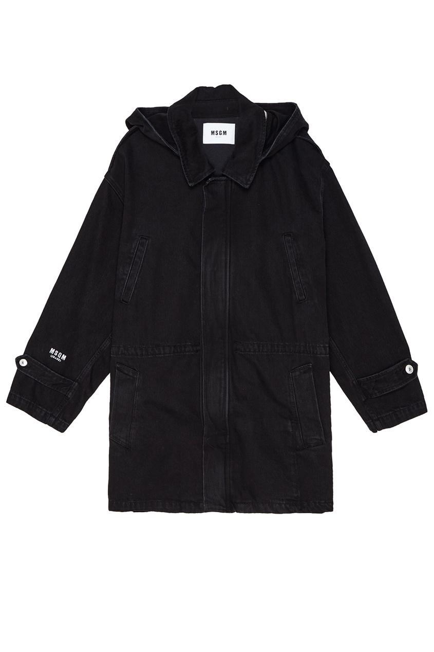 женская куртка msgm, черная