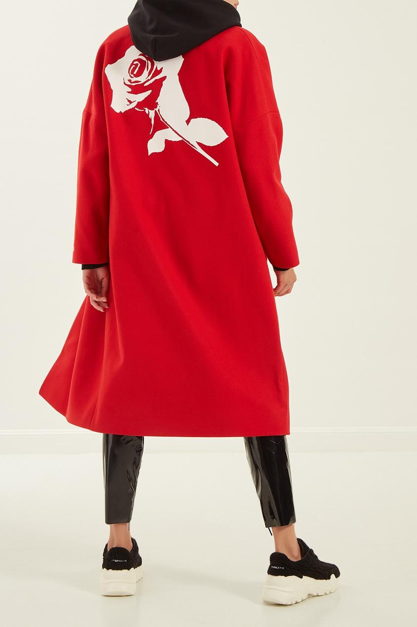 женское пальто msgm, красное