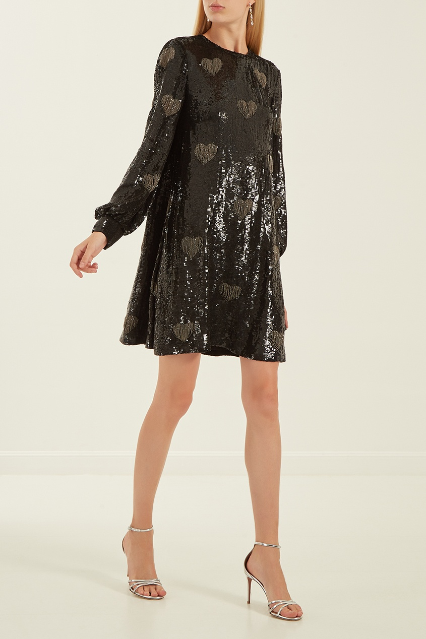 женское платье valentino, черное