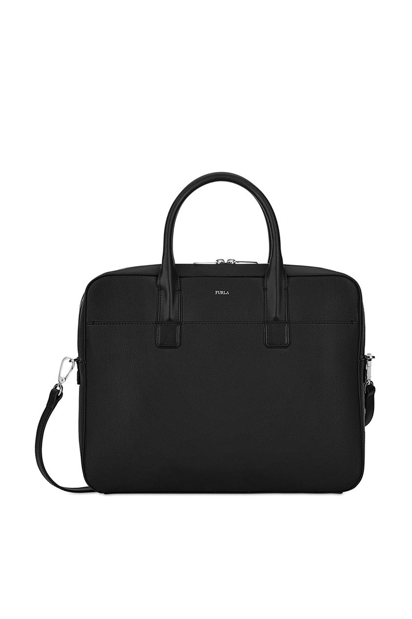 FURLA Черная кожаная сумка