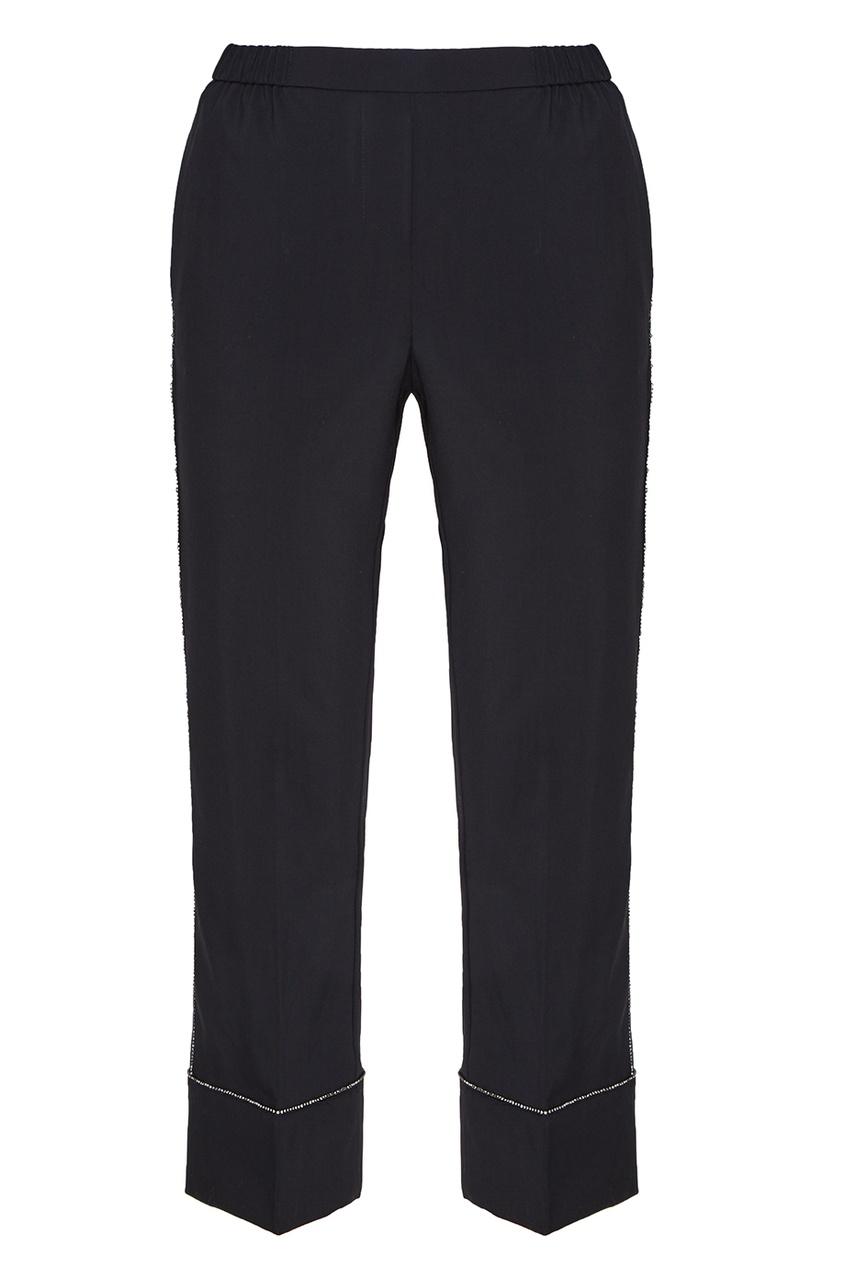 No.21 Шерстяные брюки с блестящей отделкой все цены