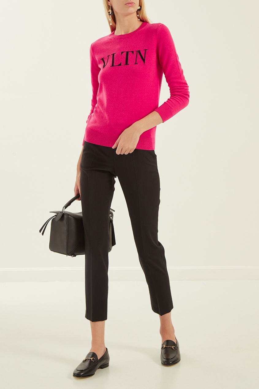 женский джемпер valentino, розовый
