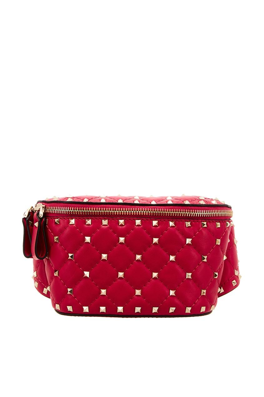 Розовая сумка на пояс Garavani Rockstud Valentino Garavani