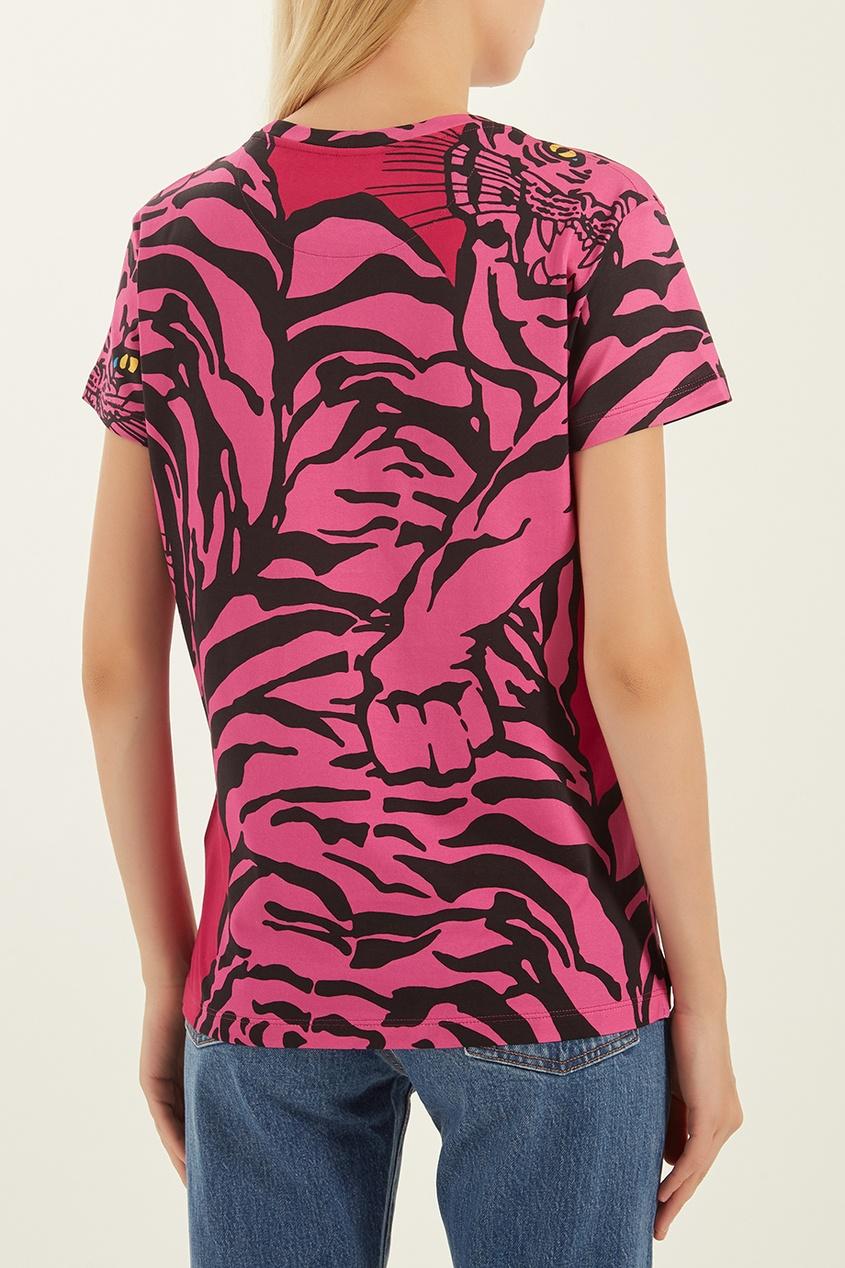 женская футболка valentino, розовая
