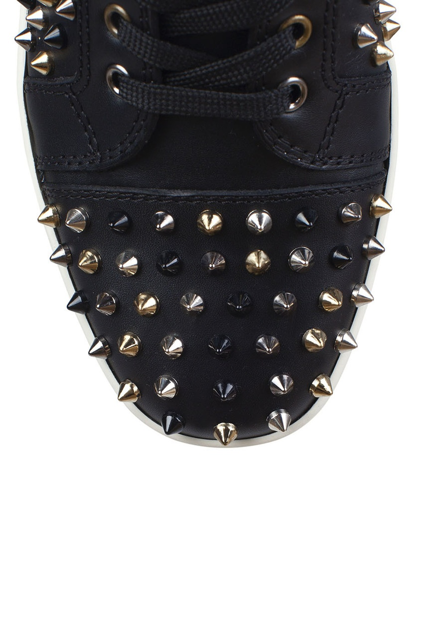 Кожаные кеды Louis Woman Flat Calf/Spikes