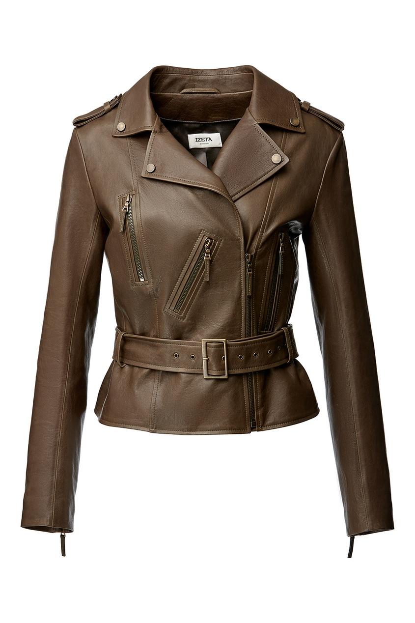 IZETA Короткая кожаная куртка короткая куртка egokillz2014
