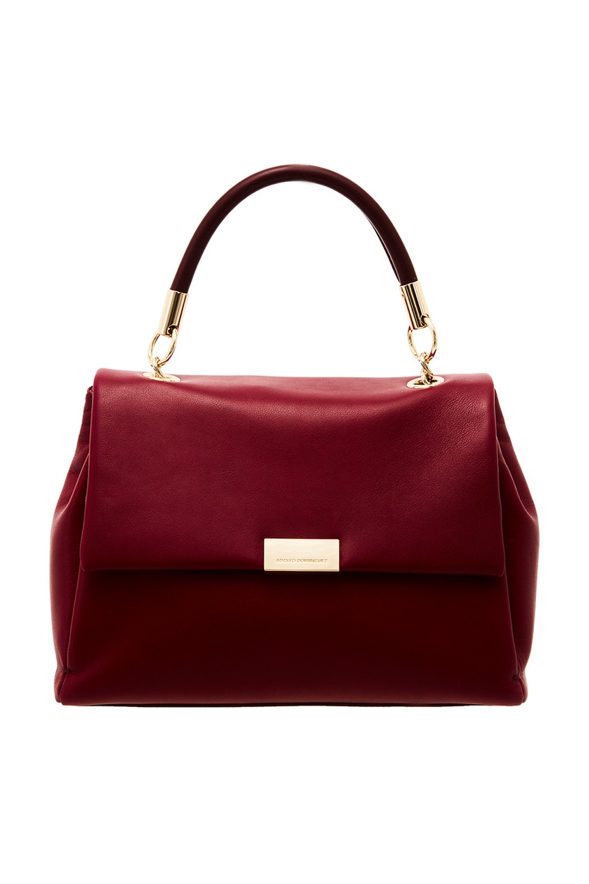 Купить со скидкой Красная кожаная сумка