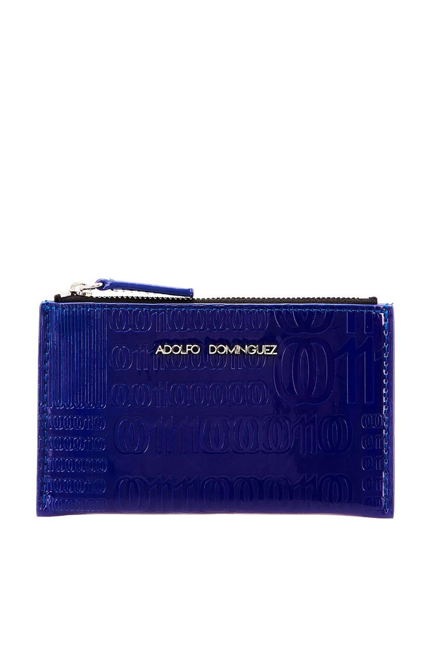 Купить со скидкой Синий кошелек с отделкой