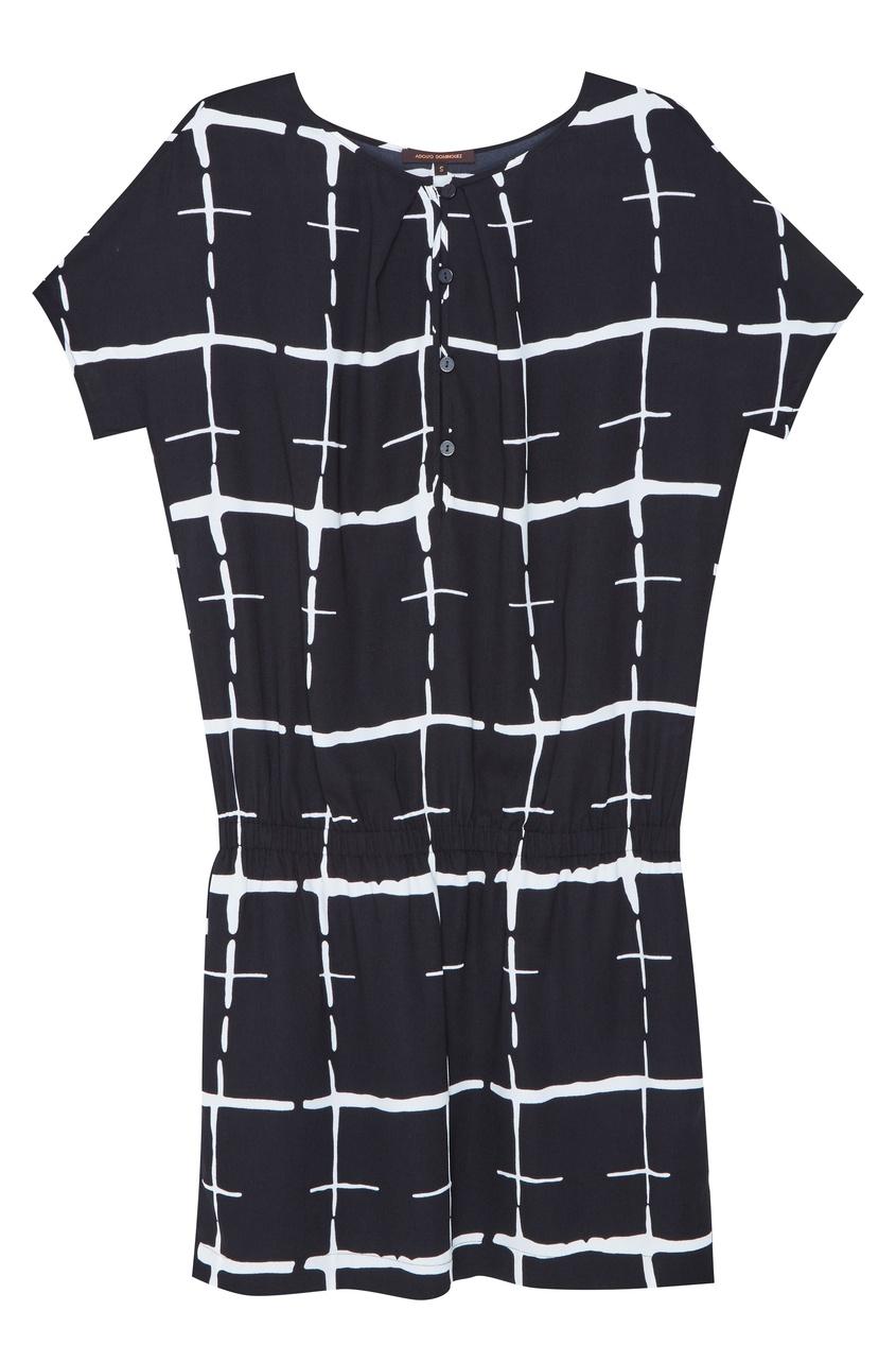 Купить со скидкой Черное платье в клетку