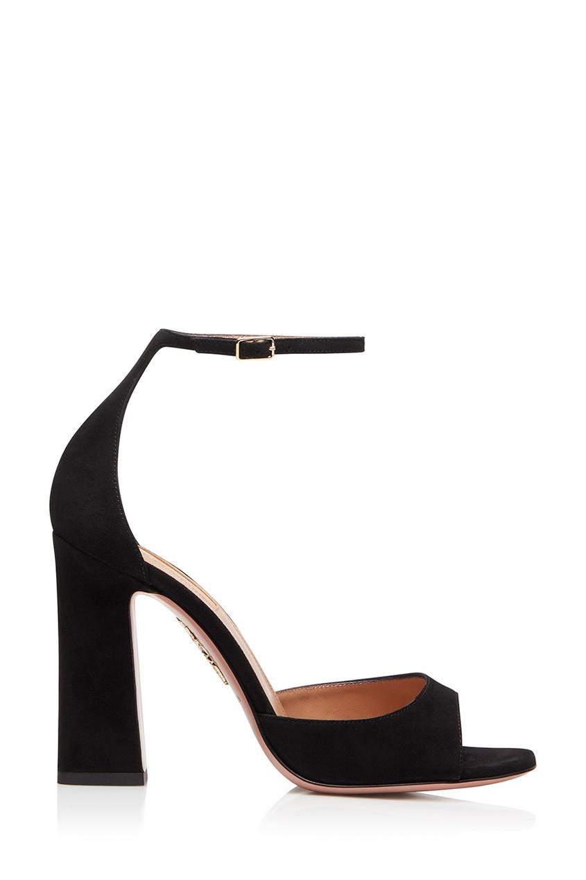 Черные босоножки Capucine Sandal 105 Aquazzura