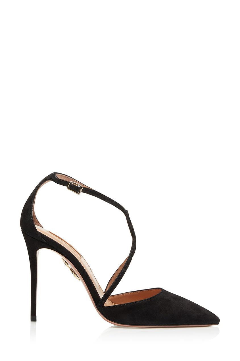 Черные туфли с ремешками charisma pump 105 Aquazzura