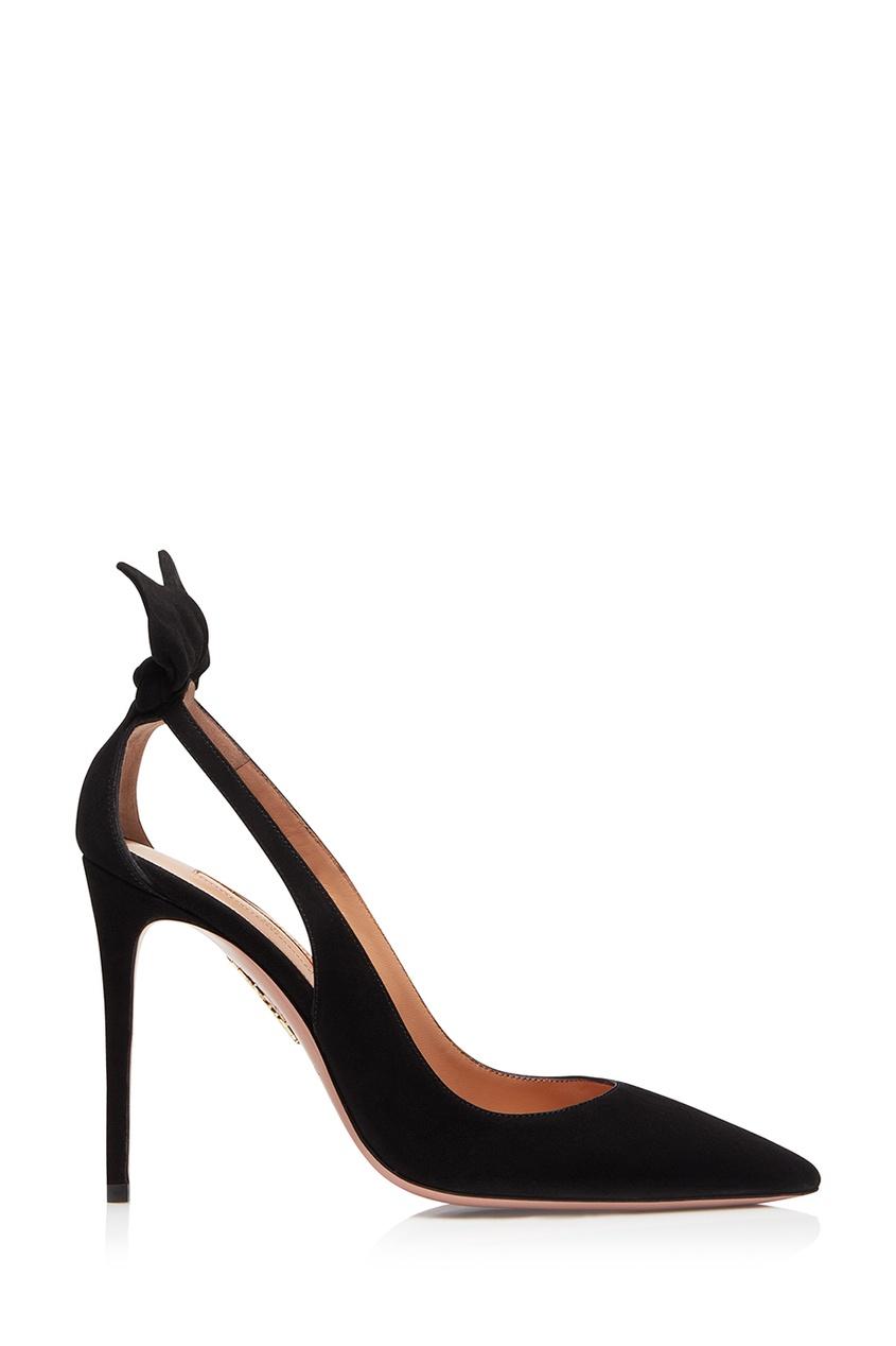 Купить Черные туфли Deneuve Pump 105 от Aquazzura черного цвета