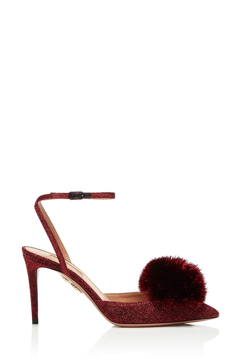 Красные туфли Powder Puff Sling 105 Aquazzura
