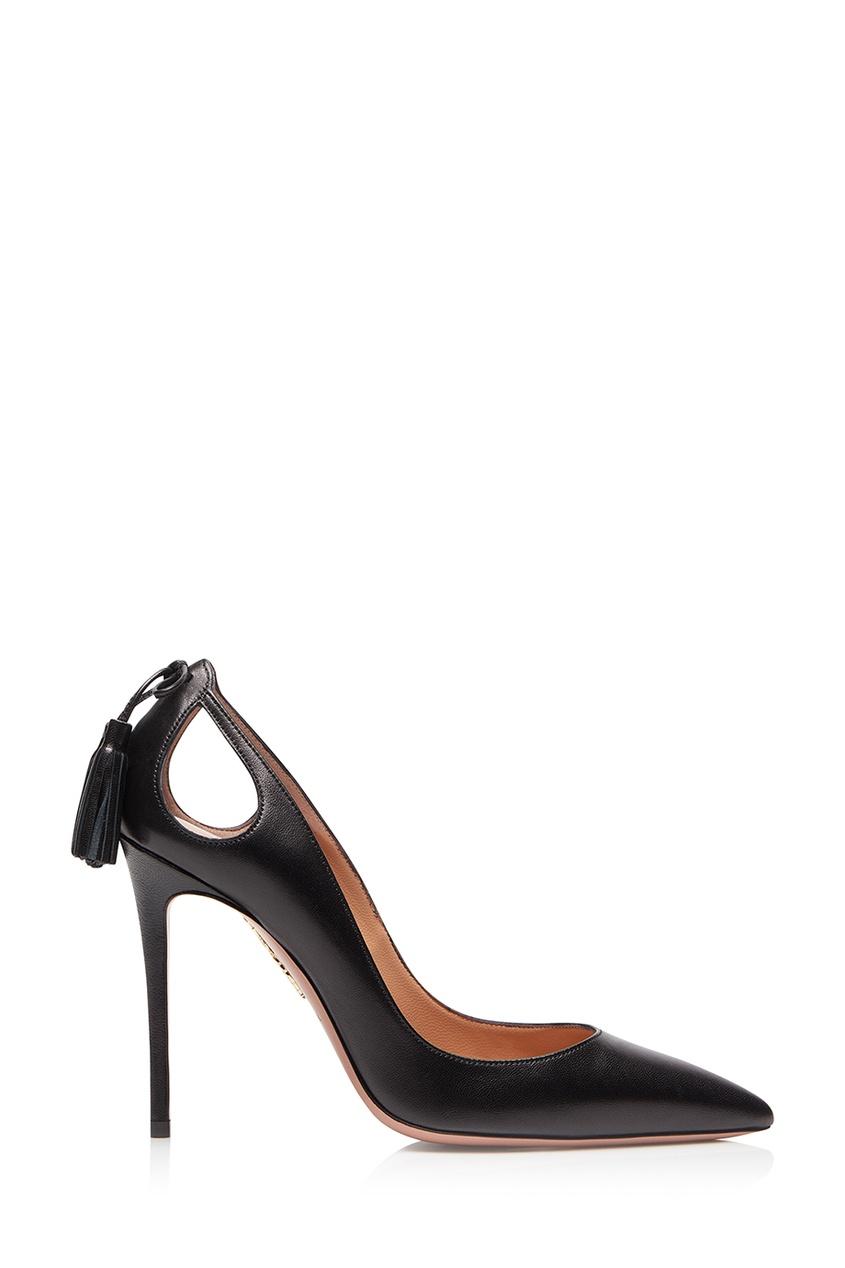 Черные туфли Forever Merilyn 105 Aquazzura